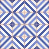 Modelo inconsútil Tejas marroquíes, ornamentos de rayas azules libre illustration