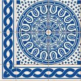 Modelo inconsútil Tejas turcas, marroquíes, del portugués y frontera, ornamentos de Azulejo libre illustration