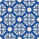 Modelo inconsútil Tejas turcas, marroquíes, portuguesas, Azulejo, ornamentos Arte islámico ilustración del vector