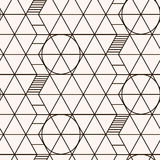 Modelo inconsútil Textura geométrica Imagen de archivo
