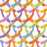 Modelo inconsútil texturizado pintado a mano de la cruz Repetición de la muestra del ejemplo del vector del arco iris ilustración del vector
