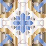Modelo inconsútil triangular y redondo ornamental de Marruecos Foto de archivo libre de regalías