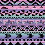 Modelo inconsútil tribal azteca Imagenes de archivo