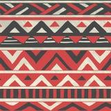 Modelo inconsútil tribal azteca del vector en arrugado Imágenes de archivo libres de regalías