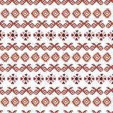 Modelo inconsútil tribal de la acuarela Elementos geométricos del boho Foto de archivo libre de regalías