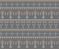 Modelo inconsútil tribal - muestras nativas del Berber, origen étnico imagen de archivo libre de regalías