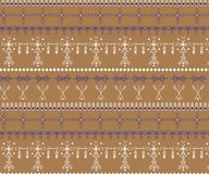 Modelo inconsútil tribal - muestras nativas del Berber, origen étnico imagen de archivo