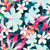 Modelo inconsútil tropical colorido libre illustration