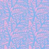 Modelo inconsútil tropical de las hojas de la palma o del helecho libre illustration