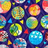 Modelo inconsútil tropical del batik africano Decorat abstracto del verano ilustración del vector