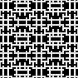 Modelo inconsútil - una rejilla un crucigrama del negro y de la pizca Foto de archivo