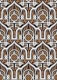 Modelo inconsútil uno de Nouaceur Marruecos Imagen de archivo libre de regalías