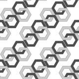 Modelo inconsútil - vínculos hexagonales de una cadena abstracta Fotos de archivo
