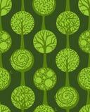 Modelo inconsútil verde stock de ilustración