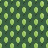 Modelo inconsútil verde de los balones de aire Imagen de archivo