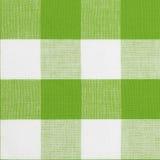 Modelo inconsútil verde del mantel de la guinga Foto de archivo libre de regalías
