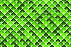 Modelo inconsútil verde del Rhombus Teja geométrica en color de la cal ilustración del vector