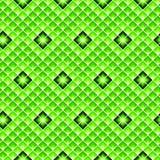 Modelo inconsútil verde del Rhombus Teja geométrica en color de la cal libre illustration