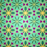 Modelo inconsútil verde del vector Imagen de archivo