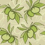 Modelo inconsútil verde oliva Fotografía de archivo