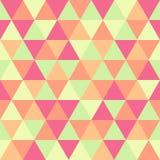 Modelo inconsútil, verde y rosa del triángulo geométrico abstracto Foto de archivo libre de regalías