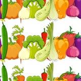 Modelo inconsútil. verdura divertida stock de ilustración