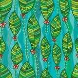 Modelo inconsútil vertical del estilo de la flor de la hoja libre illustration