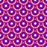 Modelo inconsútil violeta-púrpura-blanco del vintage colorido Fotos de archivo