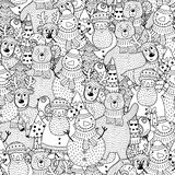 Modelo incons?til blanco y negro de la Navidad libre illustration