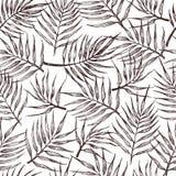 Modelo incons?til con las hojas tropicales en un fondo blanco libre illustration