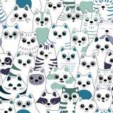 Modelo incons?til con los gatos ilustración del vector
