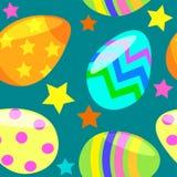 Modelo incons?til con los huevos de Pascua stock de ilustración