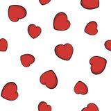Modelo incons?til de las flechas del cupido S?mbolo del amor del coraz?n Flechas y fondo lindos de los corazones para el d?a de t stock de ilustración