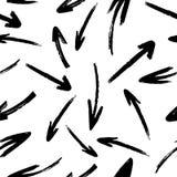 Modelo incons?til de las flechas exhaustas del vector de la mano stock de ilustración