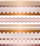 Modelo incons?til de las rayas Sistema de la raya de fronteras inconsútiles bohemias del cordón Contexto decorativo del ornamento libre illustration