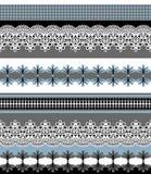 Modelo incons?til de las rayas Sistema de la raya de fronteras incons?tiles bohemias del cord?n Contexto decorativo del ornamento libre illustration