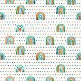 Modelo incons?til de los arco iris hechos a mano de la acuarela fotografía de archivo libre de regalías