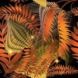 Modelo incons?til de oto?o del vector abstracto de las hojas Fondo ornamental brillante colorido de las hojas de palma Repita el  libre illustration