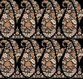 Modelo incons?til de Paisley del indio con el fondo negro ilustración del vector