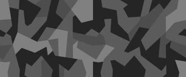 Modelo incons?til del camuflaje geom?trico Camo moderno abstracto, fondo militar moderno blanco y negro de la textura libre illustration