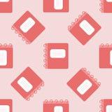 Modelo incons?til del color del vector Cuaderno plano de la escuela Papel del libro de recuerdos Para la materia textil de la imp stock de ilustración