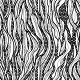 Modelo incons?til del cord?n de la tela negra del vector Imagen de archivo libre de regalías