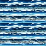 Modelo incons?til del mar del vector con texturas dibujadas mano Dise?o abstracto moderno stock de ilustración