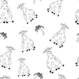 Modelo incons?til del vector con los animales gordos lindos divertidos a mano Siluetas de animales en un fondo blanco Textura de  ilustración del vector