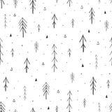 Modelo incons?til dibujado mano del bosque ilustración del vector