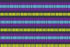 Modelo incons?til escandinavo linear Modelo de zigzag Ornamento minimalistic abstracto con color de moda Muestra moderna Backgr p stock de ilustración