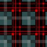 Modelo incons?til escoc?s negro y rojo de la tela escocesa de tart?n Textura del tart?n, tela escocesa, manteles, ropa, camisas,  stock de ilustración