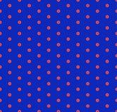 Modelo incons?til geom?trico minimalista del vector con peque?os hex?gonos Rojo y azul ilustración del vector