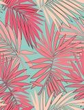 Modelo incons?til tropical con las hojas stock de ilustración
