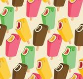 Modelo inconsútil colorido de la canción del helado Fotos de archivo libres de regalías
